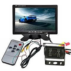tanie Kamery samochodowe tylne-ZYJIAO ciężarówka autobus duży zestaw monitorów samochodowych 7 calowy tft kolor lcd monitor z tyłu monitora backup ir kamera led wodoodporna