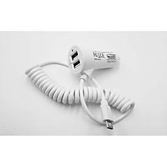 abordables Cargadores para Teléfono-Cargador de Coche Cargador usb USB Multisalida 2 Puertos USB 3.1 A DC 12V-24V