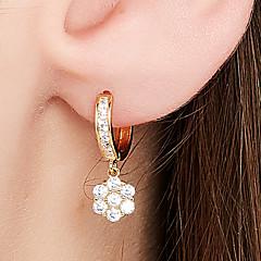 preiswerte Ohrringe-Damen Tropfen-Ohrringe / Kreolen - 18K vergoldet, S925 Sterling Silber Zierlich, Einfach, Klassisch Gold Für Alltag / Ausgehen