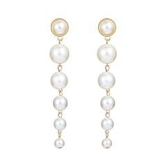 preiswerte Ohrringe-Lang Tropfen-Ohrringe - Perle, Künstliche Perle Kugel Modisch, überdimensional Weiß Für Karnival Verabredung
