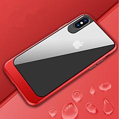 Недорогие Кейсы для iPhone 7 Plus-Кейс для Назначение Apple iPhone X / iPhone 8 Защита от удара / Зеркальная поверхность / Полупрозрачный Чехол Однотонный Твердый ПК для