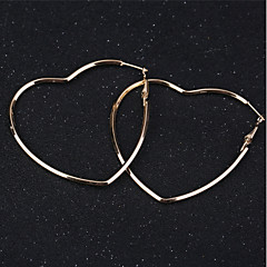 preiswerte Ohrringe-Damen Kreolen - Stern Klassisch, Grundlegend Gold Für Alltag Festtage