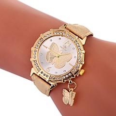 お買い得  レディース腕時計-Xu™ 女性用 ドレスウォッチ / リストウォッチ 中国 クリエイティブ / カジュアルウォッチ / かわいい PU バンド 蝶型 / ファッション ブラック / 白 / ブルー / 模造ダイヤモンド / 大きめ文字盤 / 1年間