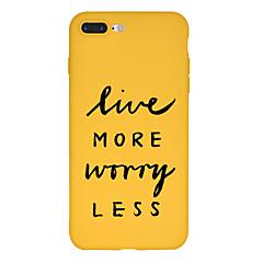 Недорогие Кейсы для iPhone X-Кейс для Назначение Apple iPhone X / iPhone 8 Plus С узором Кейс на заднюю панель Слова / выражения Мягкий ТПУ для iPhone X / iPhone 8 Pluss / iPhone 8