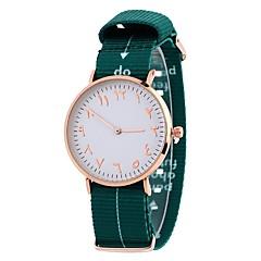 preiswerte Damenuhren-Damen Kleideruhr / Armbanduhr Chinesisch Armbanduhren für den Alltag / bezaubernd / Großes Ziffernblatt Stoff Band Freizeit / Modisch
