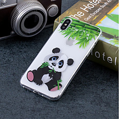 Недорогие Кейсы для iPhone 6-Кейс для Назначение Apple iPhone X / iPhone 8 IMD / С узором Кейс на заднюю панель Панда Мягкий ТПУ для iPhone X / iPhone 8 Pluss / iPhone 8