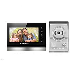 abordables Sistemas de Control de Acceso-XINSILU XSL-V70K-L+ sliver 7 pulgada Manos-Libres 800*480 Píxel One to One de vídeo portero automático