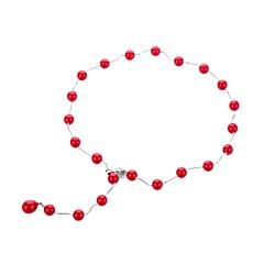 お買い得  ネックレス-女性用 真珠 ロング丈 ステートメントネックレス  -  真珠 スタイリッシュ, アーティスティック, ユニーク レッド 70 cm ネックレス 1個 用途 ナイトアウト&特別な日, 祝日