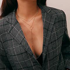 preiswerte Halsketten-Damen Mehrschichtig Anhängerketten / Layered Ketten - Stilvoll, Klassisch, Retro lieblich Gold, Silber 35+10 cm Modische Halsketten Schmuck 1pc Für Geburtstag, Alltag