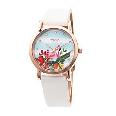 preiswerte Damenuhren-Damen Armbanduhr Japanisch lieblich / Imitation Diamant PU Band Modisch / Elegant Weiß