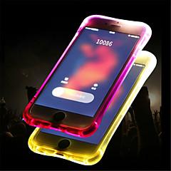 Недорогие Кейсы для iPhone X-Кейс для Назначение Apple iPhone 8 / iPhone 8 Plus Мигающая LED подсветка / Полупрозрачный Кейс на заднюю панель Однотонный Мягкий ТПУ для