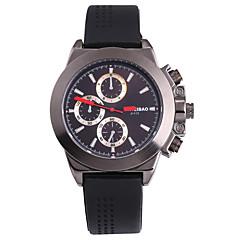 お買い得  メンズ腕時計-SHI WEI BAO 男性用 スポーツウォッチ / 軍用腕時計 / リストウォッチ 日本産 パンク / 大きめ文字盤 シリコーン バンド カジュアル / ファッション ブラック