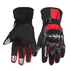 preiswerte Autozubehör-RidingTribe Vollfinger Unisex Motorrad-Handschuhe Leder / Baumwolle Kleidung Wasserdicht / warm halten / Touchscreen
