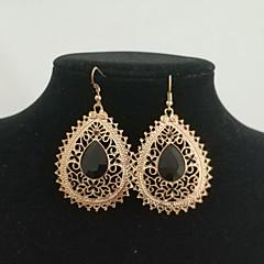 preiswerte Ohrringe-Damen Harz Hohl Tropfen-Ohrringe - Grundlegend, Europäisch, Modisch Weiß / Schwarz / Rot Für Alltag Party