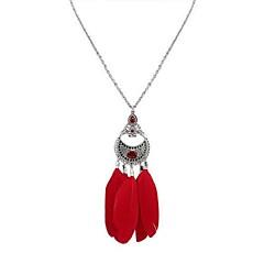 お買い得  ネックレス-女性用 ペンダントネックレス - スタイリッシュ ブラック, レッド, ダークグリーン 70 cm ネックレス 1個 用途 日常, デート