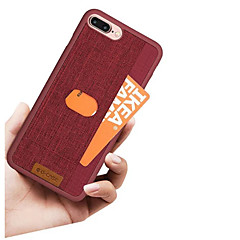 Недорогие Кейсы для iPhone-Кейс для Назначение Apple iPhone X / iPhone 8 Бумажник для карт Кейс на заднюю панель Однотонный / Полосы / волосы Твердый Кожа PU для iPhone X / iPhone 8 Pluss / iPhone 8