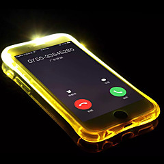Недорогие Кейсы для iPhone X-Кейс для Назначение Apple iPhone X / iPhone 8 Мигающая LED подсветка / Прозрачный Кейс на заднюю панель Однотонный Мягкий ТПУ для iPhone X / iPhone 8 Pluss / iPhone 8