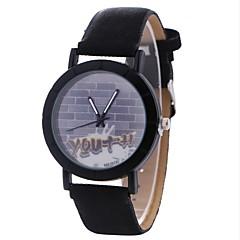 お買い得  レディース腕時計-Xu™ 女性用 ドレスウォッチ / リストウォッチ 中国 クリエイティブ / カジュアルウォッチ / 大きめ文字盤 PU バンド カジュアル / ファッション ブラック / ブラウン / グレー