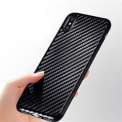 Недорогие Кейсы для iPhone X-Кейс для Назначение Apple iPhone X / iPhone 8 Ультратонкий / Рельефный Кейс на заднюю панель Полосы / волосы Мягкий Углеродное волокно для iPhone X / iPhone 8 Pluss / iPhone 8
