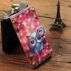 Недорогие Кейсы для iPhone 6-Кейс для Назначение Apple iPhone X / iPhone 8 Plus Кошелек / Бумажник для карт / Флип Чехол Сова Твердый Кожа PU для iPhone X / iPhone 8 Pluss / iPhone 8