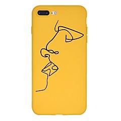 Недорогие Кейсы для iPhone 7 Plus-Кейс для Назначение Apple iPhone X / iPhone 8 Plus С узором Кейс на заднюю панель Мультипликация Мягкий ТПУ для iPhone X / iPhone 8 Pluss / iPhone 8