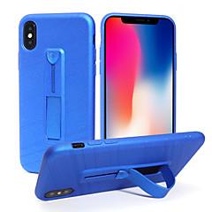 Недорогие Кейсы для iPhone 6 Plus-Кейс для Назначение Apple iPhone X / iPhone 8 Кольца-держатели Кейс на заднюю панель Сияние и блеск Мягкий ТПУ для iPhone X / iPhone 8