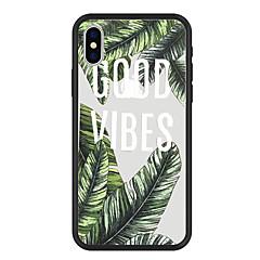 Недорогие Кейсы для iPhone 5-Кейс для Назначение Apple iPhone X / iPhone 8 Plus С узором Кейс на заднюю панель Растения / Слова / выражения / Мультипликация Твердый Акрил для iPhone X / iPhone 8 Pluss / iPhone 8