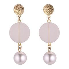 preiswerte Ohrringe-Damen Lang Tropfen-Ohrringe - Künstliche Perle Modisch Weiß Für Party / Abend / Schultaschen