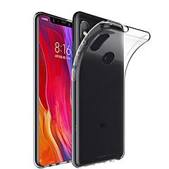 Недорогие Чехлы и кейсы для Xiaomi-Кейс для Назначение Xiaomi Mi 8 / Mi 8 SE Прозрачный Кейс на заднюю панель Однотонный Мягкий ТПУ для Xiaomi Mi Mix 2 / Xiaomi Mi Mix 2S / Xiaomi Mi Mix / Xiaomi Mi 6