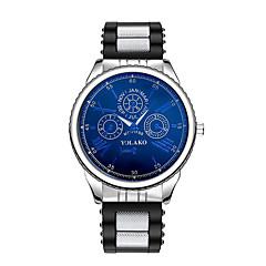 preiswerte Herrenuhren-Herrn Armbanduhr Chinesisch Armbanduhren für den Alltag Silikon Band Modisch Schwarz / Blau / Silber