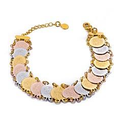 preiswerte Armbänder-Damen Münze Ketten- & Glieder-Armbänder - vergoldet Ethnisch Armbänder Regenbogen Für Party Geschenk