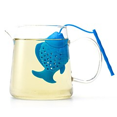abordables Accesorios para té-difusor herbario del filtro del tamiz de la especia de la hoja floja del infusor del té de los pescados del silicón