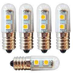 お買い得  LED 電球-5個 1 W 250-280 lm E14 LEDコーン型電球 7 LEDビーズ SMD 5050 装飾用 温白色 / クールホワイト 220-240 V