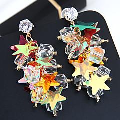 preiswerte Ohrringe-Damen Quaste Tropfen-Ohrringe - Stern Europäisch, Modisch, Mehrfarbig Gold Für Party / Abend