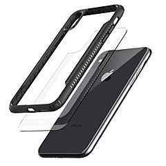 Недорогие Кейсы для iPhone 6 Plus-Кейс для Назначение Apple iPhone X / iPhone 8 Прозрачный Кейс на заднюю панель Однотонный Твердый ТПУ для iPhone X / iPhone 8 Pluss / iPhone 8