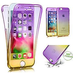 Недорогие Кейсы для iPhone 5-Кейс для Назначение Apple iPhone X / iPhone 8 Полупрозрачный Чехол Градиент цвета Мягкий ТПУ для iPhone X / iPhone 8 Pluss / iPhone 8