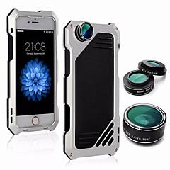 Недорогие Кейсы для iPhone-Кейс для Назначение Apple iPhone 6 Plus Защита от удара / Защита от влаги Кейс на заднюю панель Однотонный Твердый Алюминий для iPhone 6s