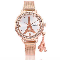 preiswerte Damenuhren-Damen Armbanduhr Chinesisch Armbanduhren für den Alltag Legierung Band Eiffelturm / Modisch Silber / Gold / Rotgold