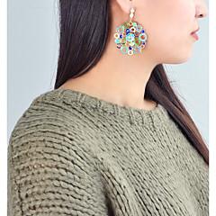 preiswerte Ohrringe-Damen Crossbody Tropfen-Ohrringe - Blume Grundlegend, Modisch Regenbogen / Rot / Grün Für Alltag / Verabredung