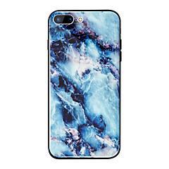 Недорогие Кейсы для iPhone-Кейс для Назначение Apple iPhone X / iPhone 8 Plus Зеркальная поверхность / С узором Кейс на заднюю панель Мрамор Твердый ТПУ / Закаленное стекло для iPhone X / iPhone 8 Pluss / iPhone 8