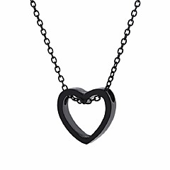 preiswerte Halsketten-Damen Lang Anhängerketten - Herz Retro, Ethnisch, Modisch Gold, Schwarz, Silber 48+5 cm Modische Halsketten 1pc Für Party / Abend, Ausgehen