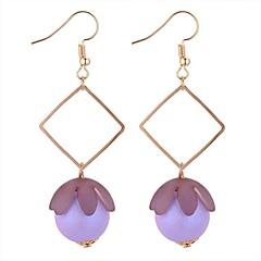 preiswerte Ohrringe-Damen Synthetischer Tansanit Tropfen-Ohrringe - Süß, Modisch Gold / Purpur / Blau Für Verabredung / Festival