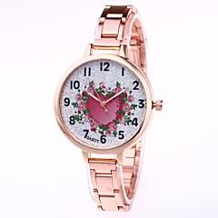 preiswerte Damenuhren-Damen Kleideruhr / Armbanduhr Chinesisch Kreativ / Armbanduhren für den Alltag / bezaubernd Legierung Band Blume / Heart Shape Silber / Gold / Rotgold