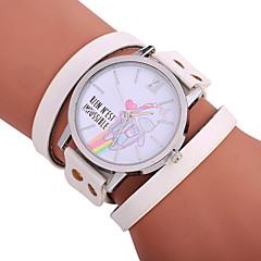 preiswerte Damenuhren-Xu™ Damen Armband-Uhr / Armbanduhr Chinesisch Kreativ / Armbanduhren für den Alltag / bezaubernd PU Band Zeichentrick / Modisch Schwarz / Weiß / Rot