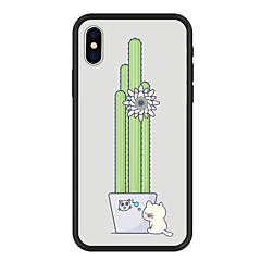 Недорогие Кейсы для iPhone X-Кейс для Назначение Apple iPhone X / iPhone 8 Plus С узором Кейс на заднюю панель Растения / Кот / Цветы Твердый Акрил для iPhone X / iPhone 8 Pluss / iPhone 8