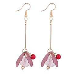 preiswerte Ohrringe-Damen Tropfen-Ohrringe - Blume Süß, Modisch Grün / Rosa / Dunkellila Für Party / Abend / Büro & Karriere