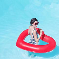 abordables Flotadores-Heart Shape Colchonetas inflables para piscina PVC Duradero, Inflable Natación / Deportes acuáticos para Adultos 110*90 cm