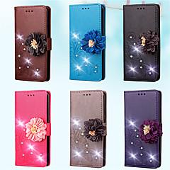 abordables Galaxy S3 Mini Carcasas / Fundas-Funda Para Samsung Galaxy S7 edge / S7 Cartera / Soporte de Coche / Diamantes Sintéticos Funda de Cuerpo Entero Un Color / Flor Dura