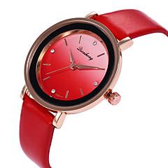 お買い得  レディース腕時計-女性用 リストウォッチ カジュアルウォッチ / かわいい PU バンド カジュアル / ファッション ブラック / 白 / レッド