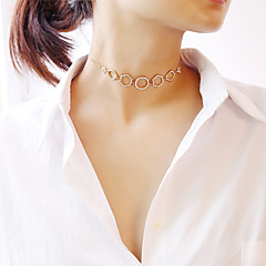 preiswerte Halsketten-Damen Halsketten - Modisch Gold, Silber 30 cm Modische Halsketten Schmuck 1pc Für Party, Verlobung, Geschenk